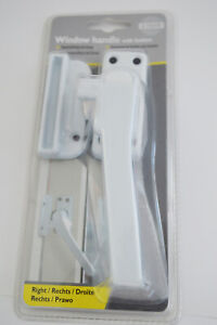 Fenstergriff weiß verriegeln Knopf rechts Riegelverschluss Druckknopf Einbruchs - Dettenhausen, Deutschland - Fenstergriff weiß verriegeln Knopf rechts Riegelverschluss Druckknopf Einbruchs - Dettenhausen, Deutschland