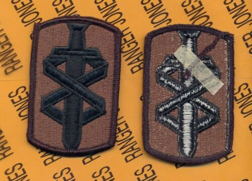 US Army 18th Medical Brigade OD Green /& Black uniform patch