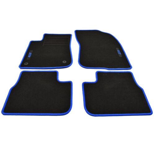 Velours Fußmatten Edition blau 4-tlg passend für Peugeot 208 I ab Bj.2012-2019