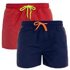 Costume Da Bagno Uomo Boxer Vari Colori Tinta Unita Elastico Mare Summer Giosal