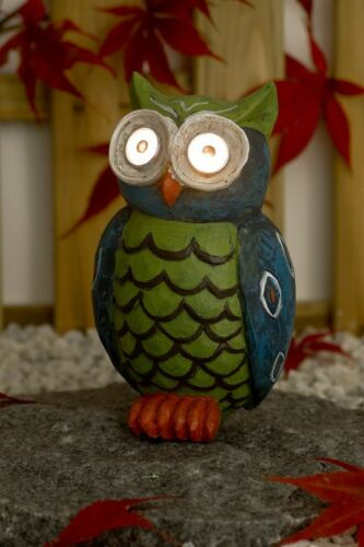 Green Large Solar Owl Loads Itself Am Day on and Glow in the dark No Power