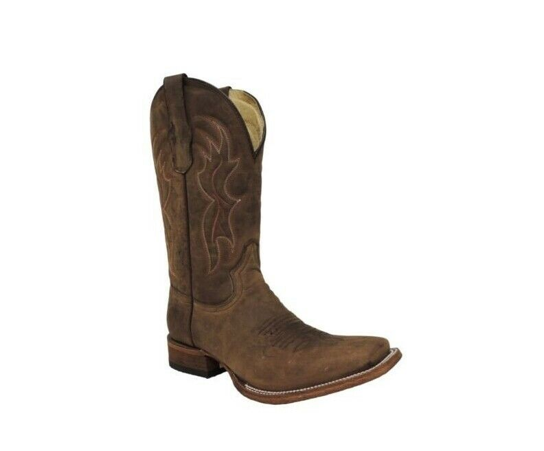 Círculo G por Corral Para Hombre botas de vaquero occidental Puntera Cuadrada básica Bronceado L5091