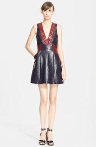 NWT-Tanya-Taylor-039-Mona-039-Sleeveless-Coated-Cotton-Dress-Blue-6-755