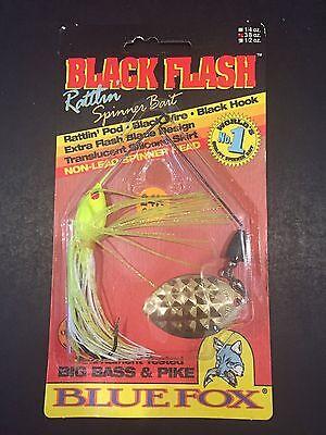 Blue Fox Black Flash Rattlin Spinner Bait 3//8oz Chart White 41-26-521