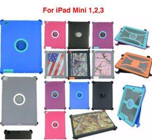For-iPad-Mini-1-2-3-Shockproof-Defender-Protective-Hard-Case-Stand-Fits-Otterbox