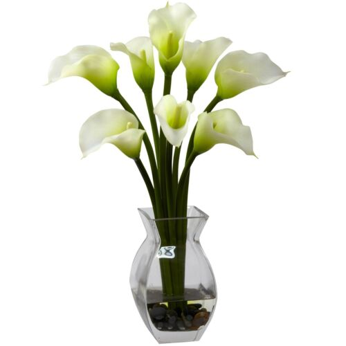 Nearly Natural Artificial Classic Calla Lily Arrangement 16 inches BRAND NEW