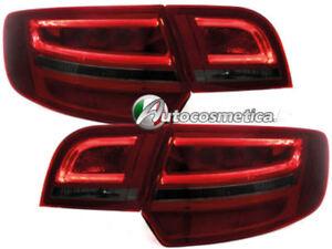 LED Luci Posteriori Set AUDI a3 8p SPORT BACK anno di costruzione 2004-2008 vetro chiaro//rosso//fumo