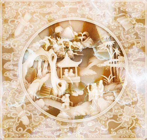 3DSculpture 8 8 8 Fond d'écran étage Peint en Autocollant Murale Plafond Chambre Art | Service Supremacy  d588b0