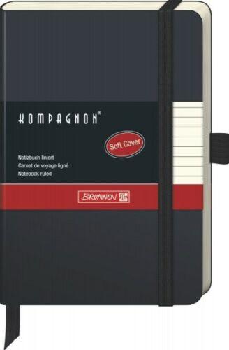 Brunnen 55617 Kompagnon Gummizug Kladde Soft-Cover 9x12,5cm liniert 5er Pack