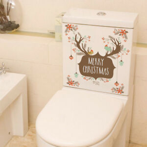 Merry-Christmas-Elk-Birds-Gift-Wall-Stickers-Store-Window-Art-DIY-Posters-I