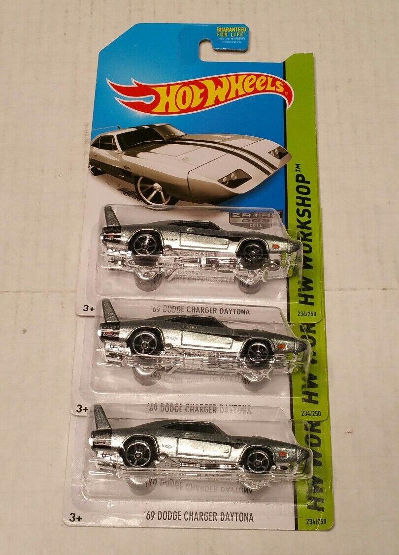 Hot Wheels 69 Dodge Charger Daytona Zamac Raw 3 3 3 Lote Coches Walmart Exclusive difícil de encontrar d91dc5