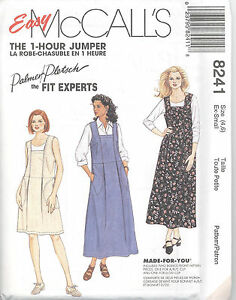 McCall-039-s-8241-Misses-039-Dress-or-Jumper-in-Two-Lengths-Sewing-Pattern