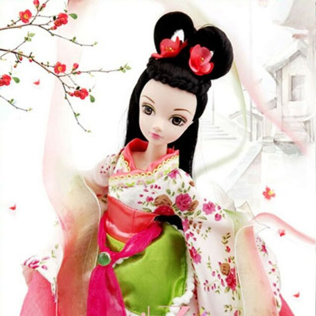 Pretty China Ancient Begonia Flower Fairy Of Kurhn Chinese Barbie Doll Figure