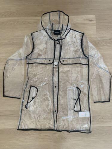 Boohoo Clear Raincoat Size S/M - image 1