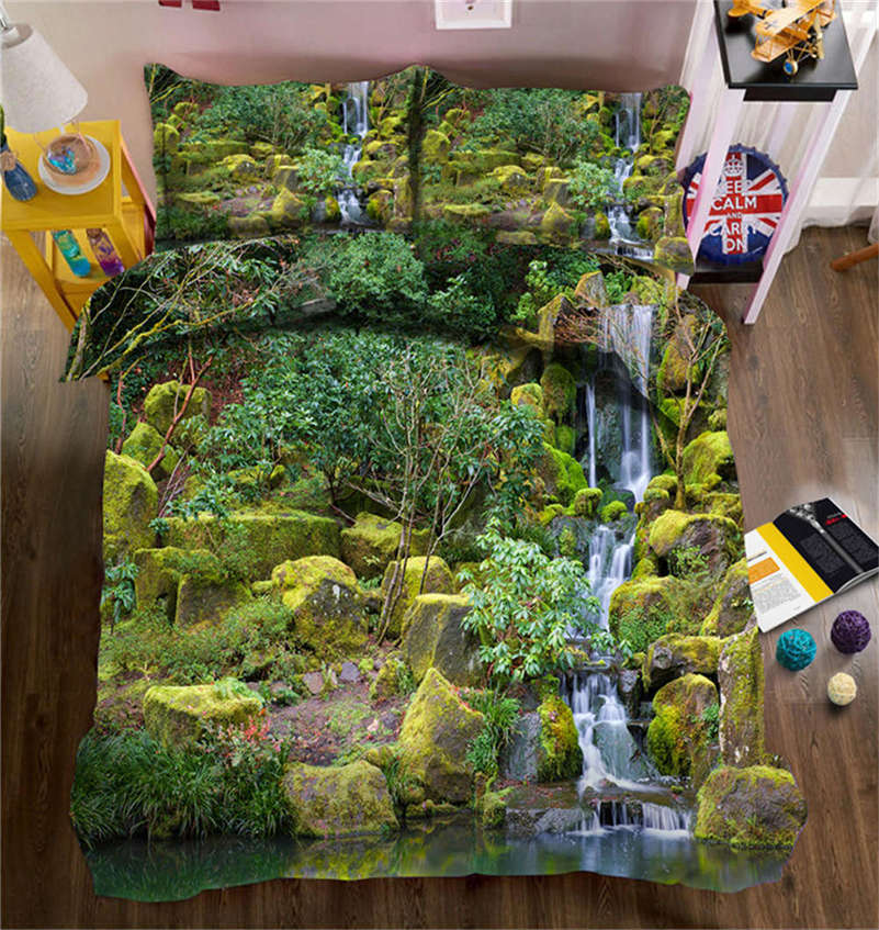 Lush Forest Trees 3D Printing Duvet Quilt Doona Covers Pillow Case Bedding Sets