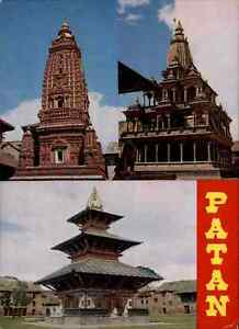 NEPAL-Postkarte-Postcard-PATAN-Mehrbildkarte-Tempelanlage-Tempel-Temple-color