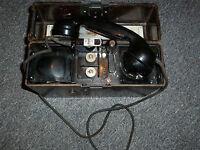 Original Feldfernsprecher FF33 der Wehrmacht Feldtelefon WaA