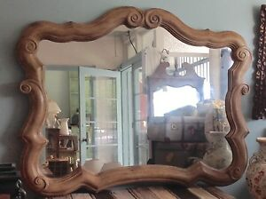 Mirror-hanging-timber-large-pretty-135cm-x-109cm-Pick-up-Greenwich