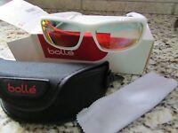 Bolle Origin White Sunglasses W/ Case Polarized 11453 Free Ship
