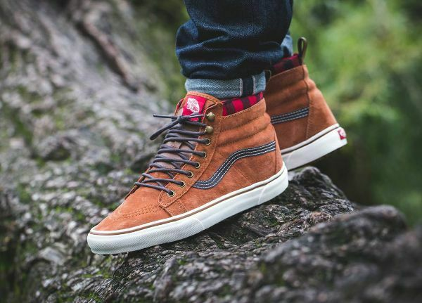 VANS Sk8 Hi MTE Leather VN0A33TXRIZ Glazed Ginger mens 9.5 11 women sold out