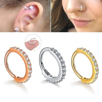 Small Septum Ring Piercing Nose Ear Cartilage Tragus Helix