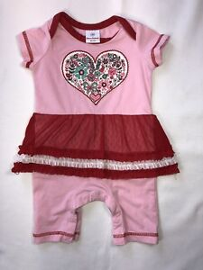 9e03a856270 Hanna Andersson Girls 3 Months Pink Heart Red Tutu Valentine s ...