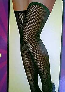 1920s-Flappers-Lolita-Gothic-Black-Fishnet-Thigh-High-Costume-Stockings
