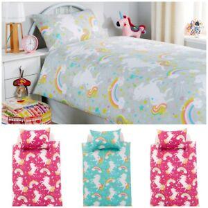 Luxurious-Unicorn-Duvet-Cover-Kids-Bedding-Set-Quilt-Cotton-Rich-Single-Double