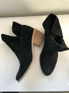 BP NORDSTROM Black Suede Ankle Boots