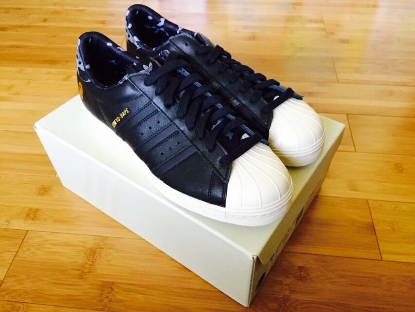 Adidas Bape Undeafeated consortium superstar BLACK Sz 10 Deadstock  Zx9000