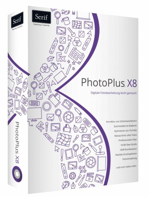 Photoplus X8 deutsch CD/DVD Version Photo Plus  von Serif EAN 4023126117694