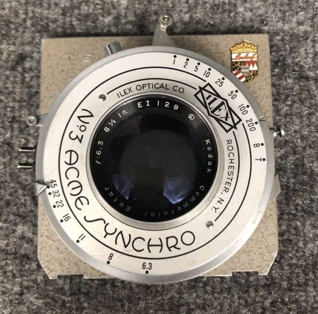 "Kodak Commercial Ektar 8.5"" f6.3 Lens W/Acme Shutter On Linhof Technika Board"