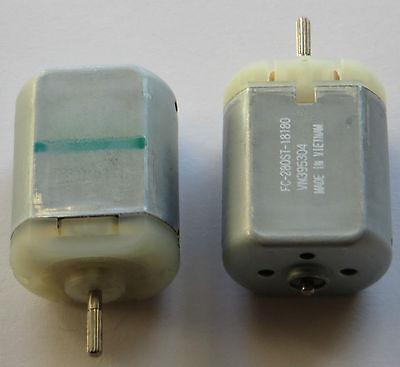 2 X Mabuchi FC-280 Door Lock Actuator Repair Motor - 12 V - 9840 RPM - 6 to 15V