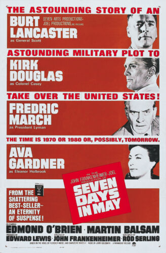 Seven days in May Kirk Douglas vintage movie poster