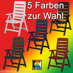 5 farben kettler nizza gartenstuhl klappsessel sessel campingstuhl klappstuhl ebay. Black Bedroom Furniture Sets. Home Design Ideas