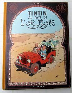 TINTIN-HERGE-L-039-ILE-NOIRE-B29-1961-CASTERMAN-TRES-BON-ETAT