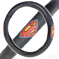 Warner Brothers Blue Superman Design Steering Wheel Cover on sale