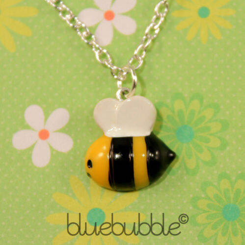 FUNKY BUSY BUMBLE BEE NECKLACE SWEET INSECT FUN ANIMAL KITSCH RETRO NOVELTY GIFT