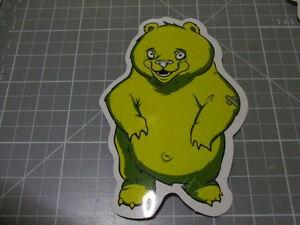 BEAR-YELLOW-GLOSSY-Sticker-Decal-Bumper-Bomb-Skateboard-Laptop-NEW