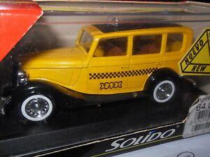 Solido-4163-1936-Ford-V8-Sedan-Amarillo-Taxi-Taxi-Excelente-En-Caja