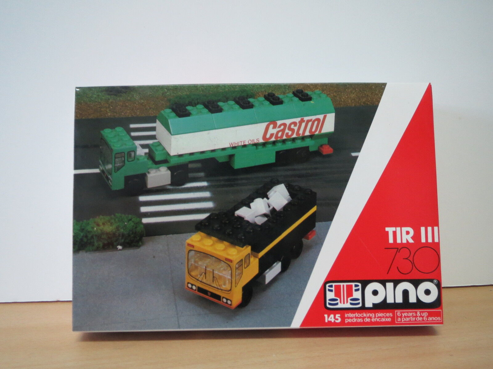 Vintage Portuguese LEGO PINO - TIR 730 - CASTROL OIL - Made in Azores (Portugal)