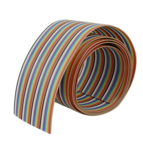 1M 40pin Wire Flat Color Rainbow Ribbon Cable Wire Jumper Cable 1.17mm