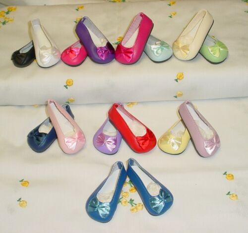 "37mm LIGHT BLUE Bow Trim Slip ons  for *Bleuette 12/""Shirley T, Doll Shoes"