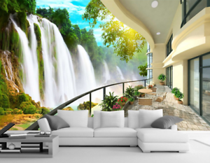 3D Waterfall 557 Wallpaper Murals Wall Print Wallpaper Mural AJ WALL AU Lemon
