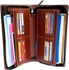 Multiple cheque book holder,5 to 8 saving cheque book,12 card holder,zipper,pu-B