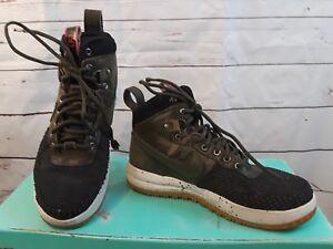 68faf09cdc83 Nike Air Lunar Force 1 Duckboot Shoes LF1 Brown Black 805899-004 Sz ...