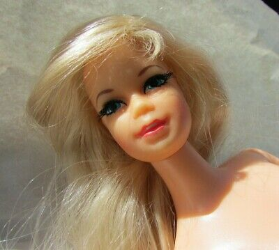 Mattel Barbie 1976 Head 1966 Body Twist Waist Blonde Blue Tan Nude Doll   eBay