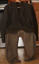 CALVIN KLEIN Brown/Taupe TWO BUTTON MEN jacket (100% Wool) & slacks ensemble 44L