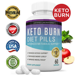 Keto Diet Pills Burn BHB Ketogenic Weight Loss Supplement Fat Burner Men & Women