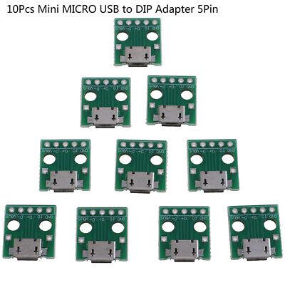 10Pcs MICRO USB to DIP Adapter 5Pin Female Connector PCB Converter Board/_sh.jAXB